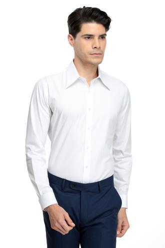 Twn Slim Fit Beyaz Düz Gömlek - 8682060841100 | D'S Damat