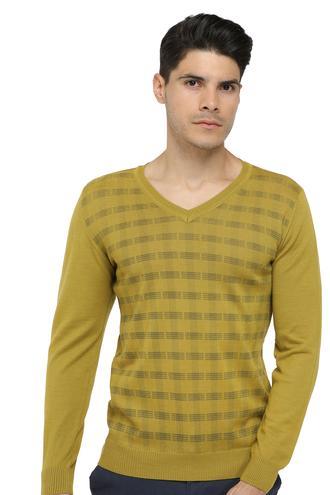 Ds Damat Regular Fit Olıve Yeşili Baskılı Kazak - 8682060029133 | D'S Damat
