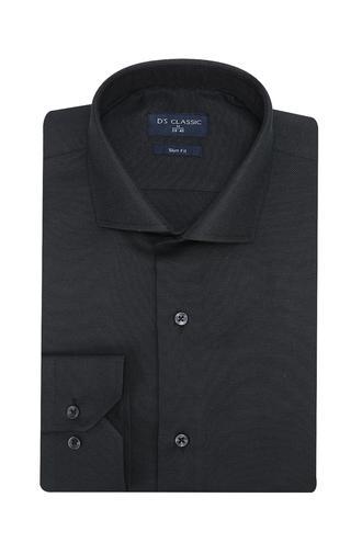Ds Damat Slim Fit Siyah Gömlek - 8681779951476 | D'S Damat