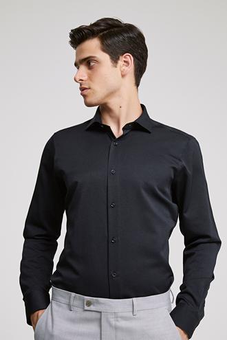 Ds Damat Slim Fit Siyah Gömlek - 8681779951902 | D'S Damat