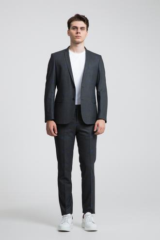 Twn Süper Slim Fit Slim Fit Antrasit Jakar Desenli Takım Elbise - 8681779510901 | D'S Damat