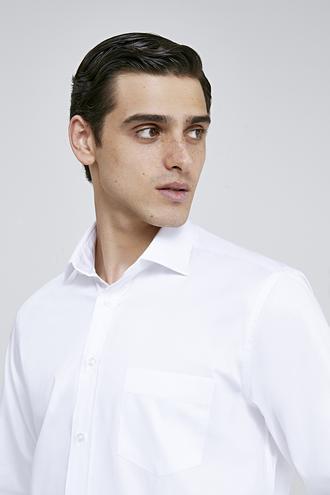 Ds Damat Regular Fit Beyaz Düz Gömlek - 8682445045338 | D'S Damat