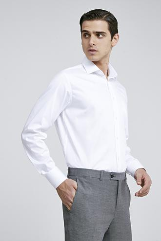 Ds Damat Regular Fit Beyaz Düz Gömlek - 8682445069358 | D'S Damat