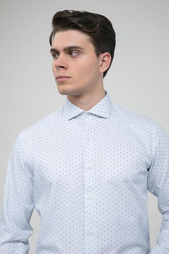 Ds Damat Slim Fit Beyaz Baskılı Gömlek - 8681779510253 | D'S Damat