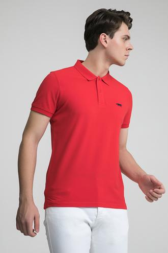 Twn Slim Fit Kırmızı Pike Dokulu T-shirt - 8681779872733 | D'S Damat