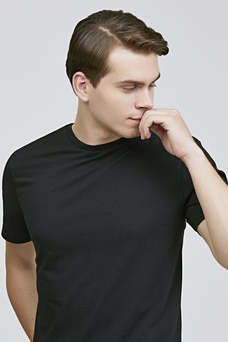 Ds Damat Regular Fit Siyah Düz T-shirt - 8682060818164 | D'S Damat