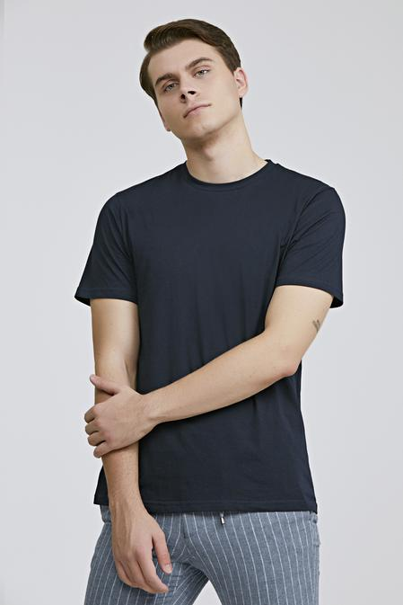 Ds Damat Regular Fit Lacivert Düz T-shirt - 8682060818225 | D'S Damat