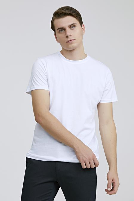 Ds Damat Regular Fit Beyaz Düz T-shirt - 8682060818324 | D'S Damat