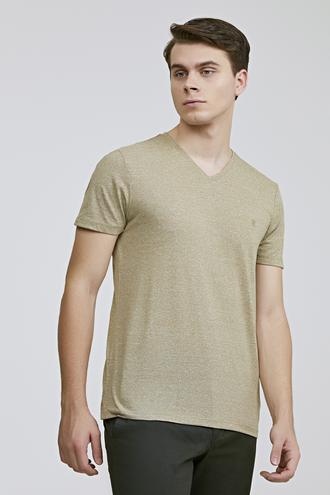 Twn Slim Fit Haki Düz T-shirt - 8682060815217 | D'S Damat