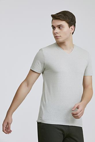 Twn Slim Fit Taş Düz T-shirt - 8682060815293 | D'S Damat