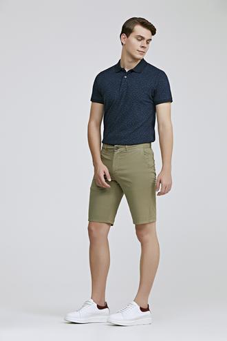 Ds Damat Slim Fit Yeşil Şort - 8681779831174 | D'S Damat