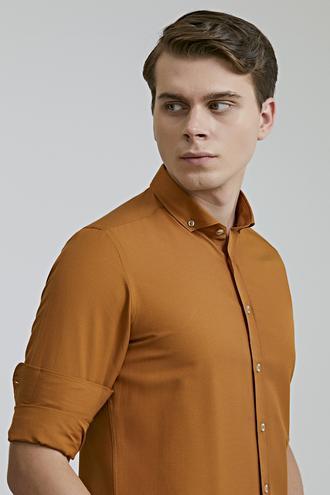 Twn Slim Fit Camel Oxford Gömlek - 8682060835598   D'S Damat