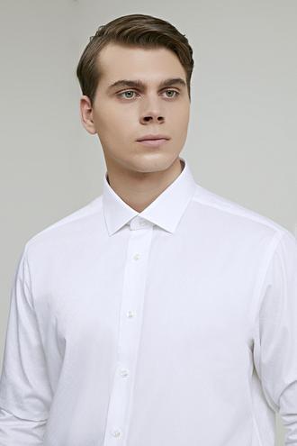 Ds Damat Regular Fit Beyaz Armürlü Gömlek - 8682060892409   D'S Damat