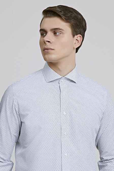 Ds Damat Slim Fit Beyaz Dokulu Gömlek - 8681779624233 | D'S Damat