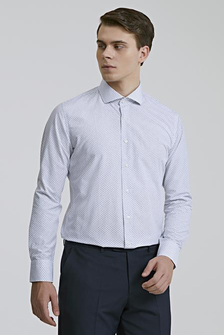 Ds Damat Slim Fit Beyaz Desenli Gömlek - 8682060894526   D'S Damat