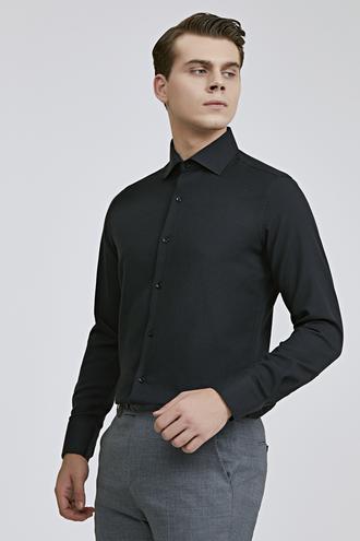 Ds Damat Slim Fit Siyah Gömlek - 8681779951476   D'S Damat