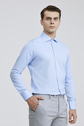 Ds Damat Slim Fit Mavi Gömlek - 8681779951551 | D'S Damat