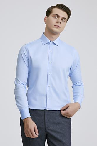 Ds Damat Slim Fit Mavi Gömlek - 8681779951957 | D'S Damat