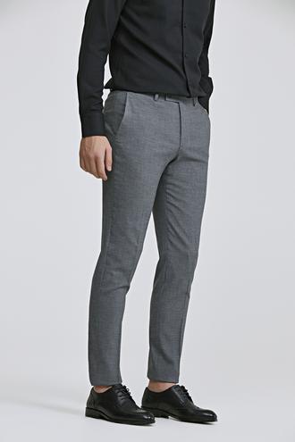 Twn Slim Fit Antrasit Ekoseli Kumaş Pantolon - 8682060678768 | D'S Damat