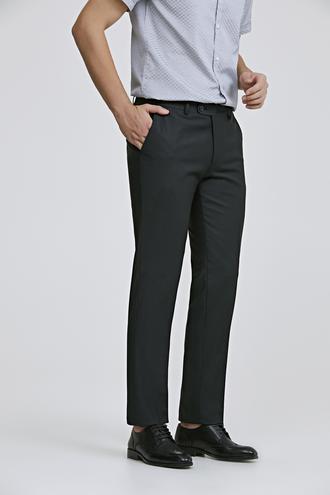 Ds Damat Slim Fit Siyah Düz Travel Kumaş Pantolon - 8682060774590 | D'S Damat