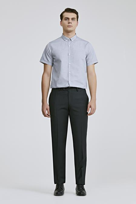 Ds Damat Slim Fit Siyah Düz Kumaş Pantolon - 8681779956785 | D'S Damat