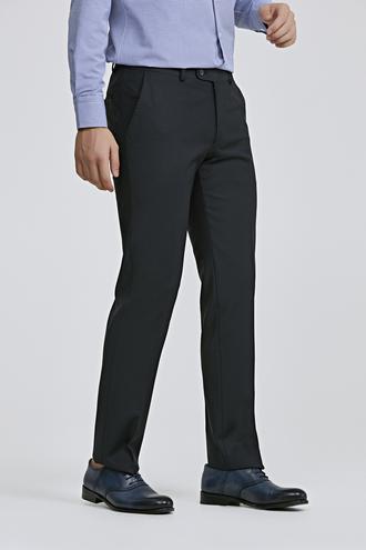 Ds Damat Slim Fit Lacivert Düz Travel Kumaş Pantolon - 8682060775580 | D'S Damat