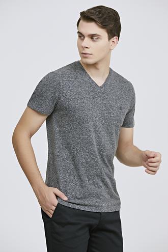 Twn Slim Fit Antrasit Düz T-shirt - 8682060815170   D'S Damat