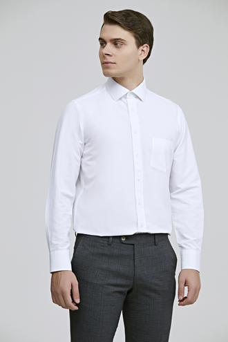 Ds Damat Regular Fit Beyaz Düz Gömlek - 8682445069594   D'S Damat
