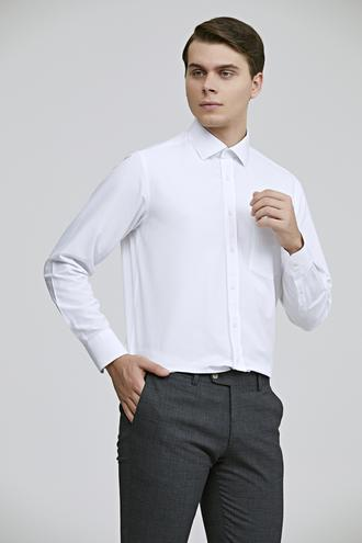 Ds Damat Regular Fit Beyaz Düz Gömlek - 8682445046380 | D'S Damat