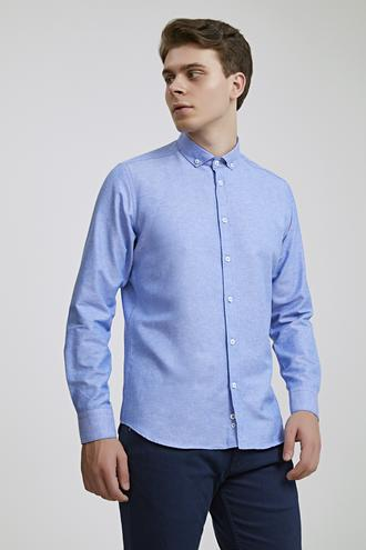 Twn Slim Fit Mavi Oxford Gömlek - 8682445476262 | D'S Damat