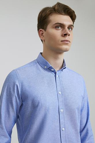 Twn Slim Fit Mavi Oxford Gömlek - 8682060835673 | D'S Damat