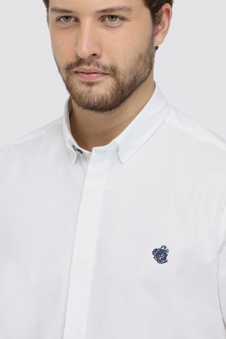 Twn Slim Fit Beyaz Oxford Gömlek - 8682060836373   D'S Damat