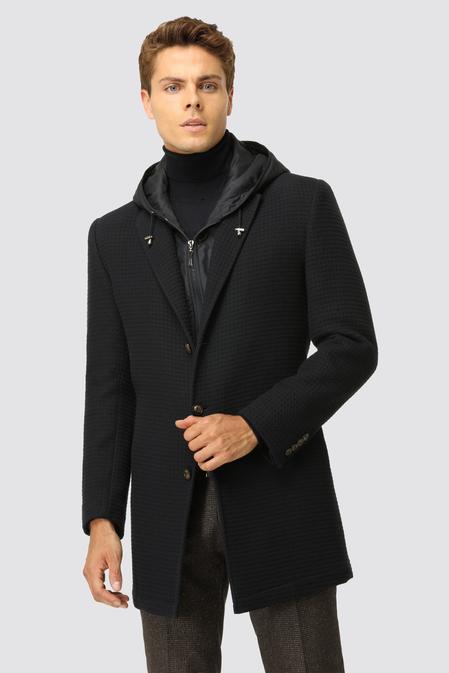 Twn Slim Fit Lacivert Palto - 8682060876058 | D'S Damat