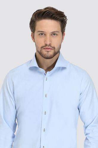 Ds Damat Slim Fit Mavi Oxford Gömlek - 8682060893178   D'S Damat