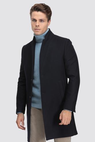 Twn Slim Fit Lacivert Palto - 8682060905529 | D'S Damat
