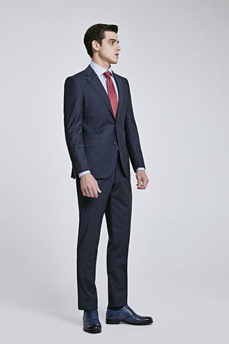 Ds Damat Slim Fit Slim Fit Lacivert Düz Takım Elbise - 8681779416067   D'S Damat