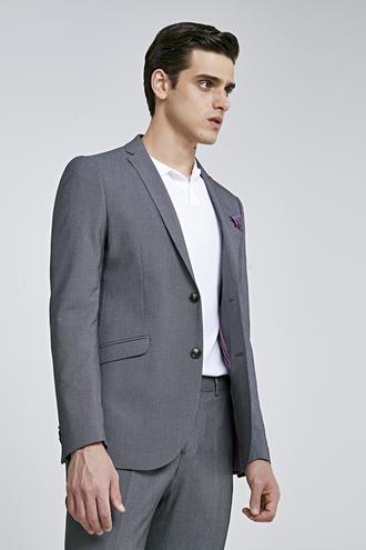 Twn Slim Fit Siyah Düz Takım Elbise - 8682060792068 | D'S Damat