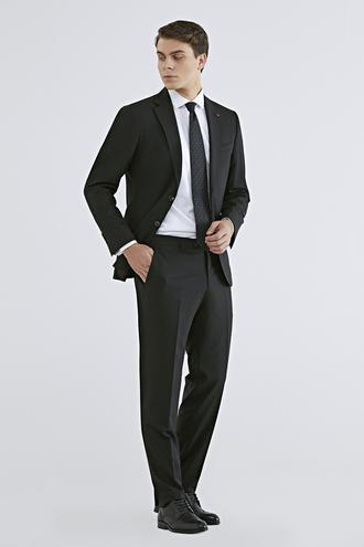 Ds Damat Slim Fit Slim Fit Siyah Düz Takım Elbise - 8682060154774 | D'S Damat
