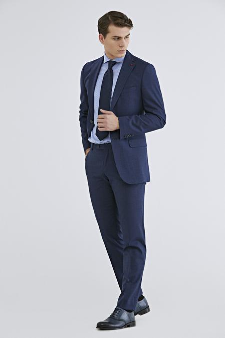 Ds Damat Regular Fit Lacivert Armürlü Takım Elbise - 8682060782076 | D'S Damat