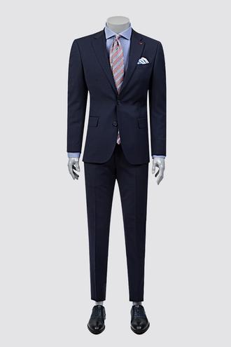 Ds Damat Slim Fit Slim Fit Lacivert Ekoseli Takım Elbise - 8681779217497 | D'S Damat