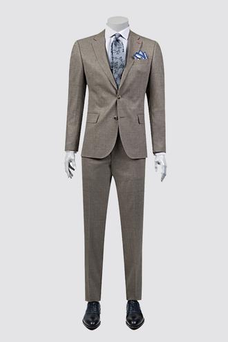 Ds Damat Slim Fit Slim Fit Bej Desenli Takım Elbise - 8681778939673 | D'S Damat