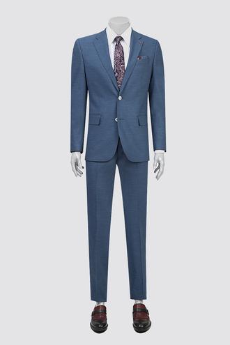 Ds Damat Slim Fit Slim Fit Lacivert Armürlü Takım Elbise - 8681778894224 | D'S Damat