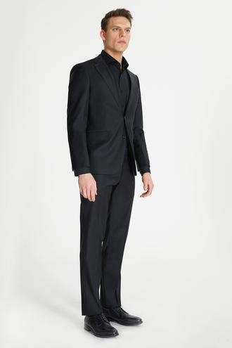 Ds Damat Slim Fit Slim Fit Siyah Düz Takım Elbise - 8681779415947   D'S Damat