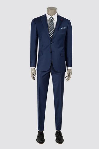 Ds Damat Slim Fit Slim Fit Saks Mavi Düz Takım Elbise - 8681779416418   D'S Damat