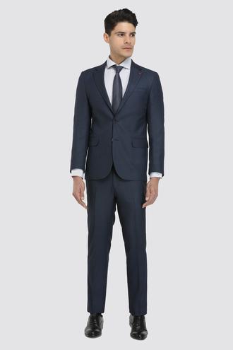 Ds Damat Slim Fit Slim Fit Lacivert Desenli Takım Elbise - 8681779596486 | D'S Damat