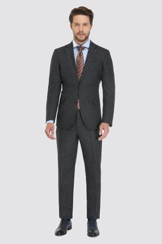 Ds Damat Slim Fit Slim Fit Lacivert Armürlü Takım Elbise - 8681779472766 | D'S Damat