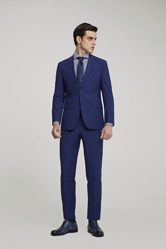 Ds Damat Slim Fit Saks Mavi Düz Travel Takım Elbise - 8681779984696 | D'S Damat