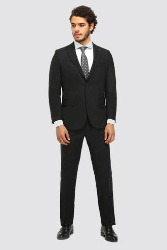 Ds Damat Comfort Fit Siyah Düz Travel Takım Elbise - 8681779836179 | D'S Damat