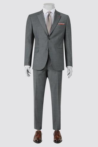 Ds Damat Regular Fit Slim Fit Gri Düz Takım Elbise - 8681779837619   D'S Damat