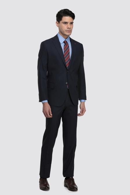Ds Damat Comfort Fit Lacivert Düz Travel Takım Elbise - 8682060047991 | D'S Damat